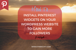 HOW TO INSTALL THE PINTEREST WIDGETS ON YOUR WORDPRESS WEBSITE TO GAIN MORE FOLLOWERS