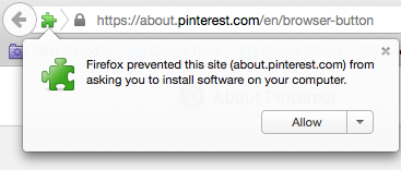 allow pin it button install