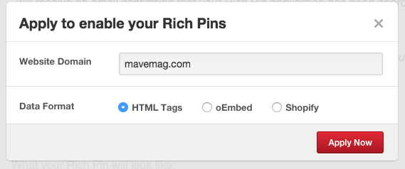 enable richpins after validation