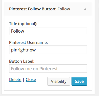 follow me on pinterest widget wordpress