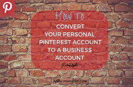 How to convert your account on Pinterest