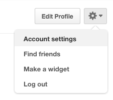 how to find account settings on pinterest