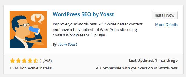 install yoast seo plugin