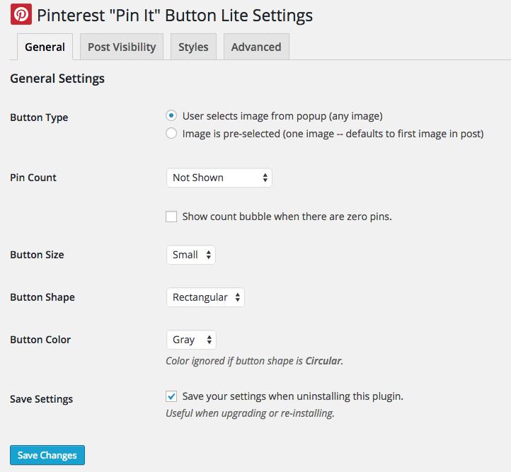 pinterest pin it button settings