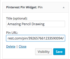 pinterest pin widget wordpress plugin