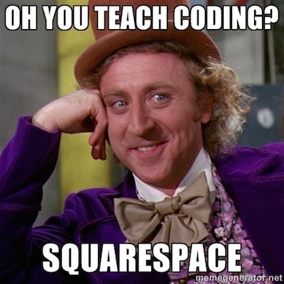 squarespace meme
