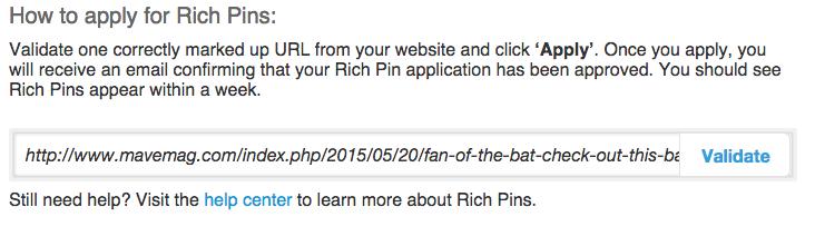 validate url in richpins validator