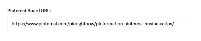 Paste Your Pinterest Board URL into the Widget Builder