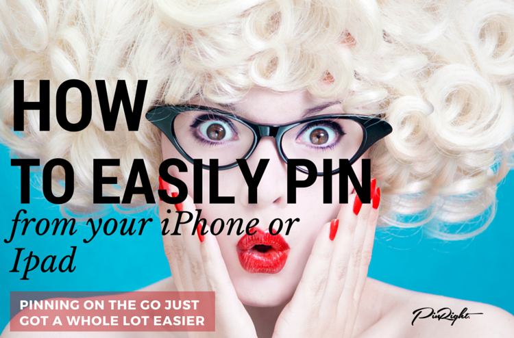 How to Easily Pin from your iPhone or Ipad - pinning on the go just got a whole lot easier. Brand new feature announced by Pinterest today | pinright.com