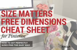 A FREE Pinterest Pin Dimensions Cheat Sheet. Don't struggle trying to find or remember the optimum pin or profile dimensions we have them all here in this one fantastic cheat sheet. Download it and pin it to a board so you can always have easy reference to it. For more Pinterest tips and training go to pinright.com