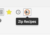 Zip Recipes toolbar button