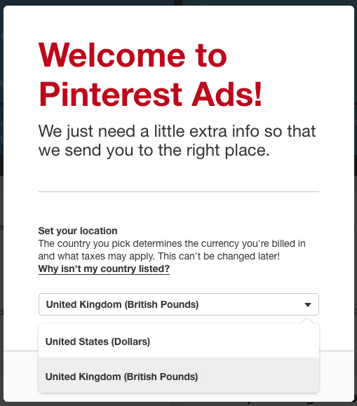Pinterest Promoted Pins Ads Welcome Screen