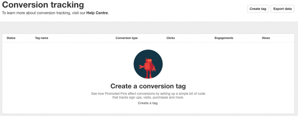 Set up conversion tags in your Promoted Pins dashboard