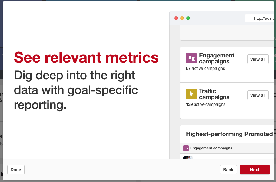 see metrics and monitor your promoted pin campaigns