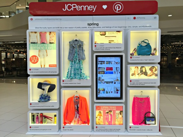 JCPenney Live Interactive Pinterest Board