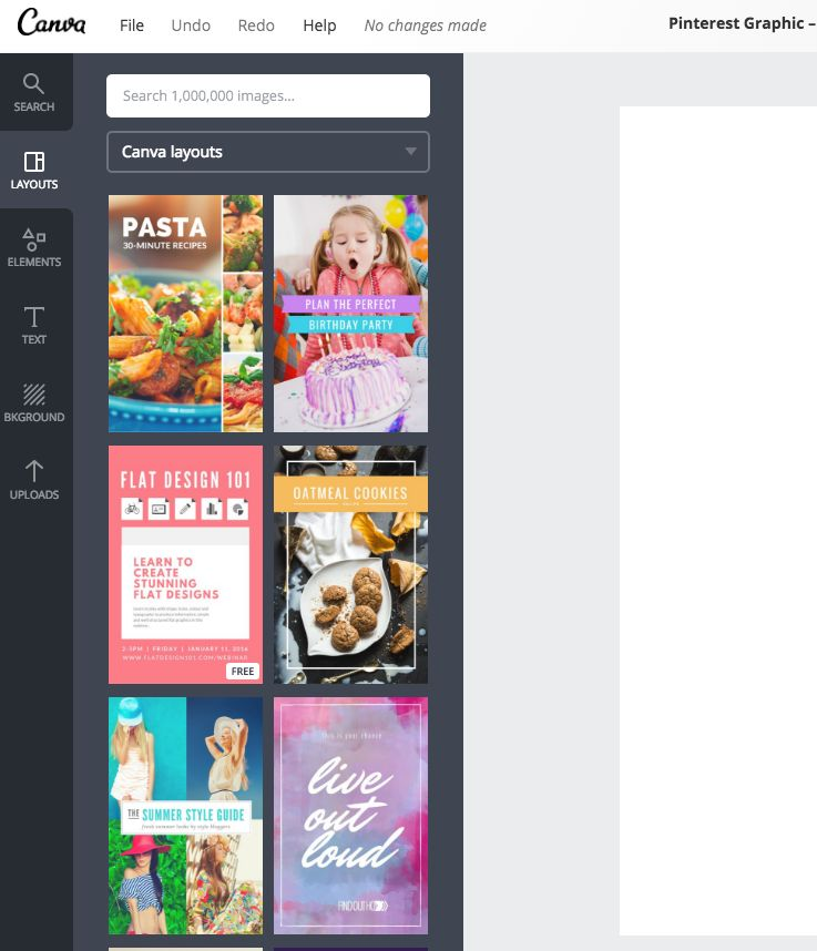Using Canva Presets for creating mutli image pins on Pinterest