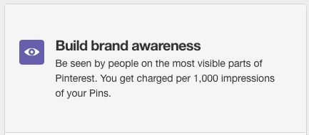 Boost brand awareness using cost per thousand impressions on promoted pins